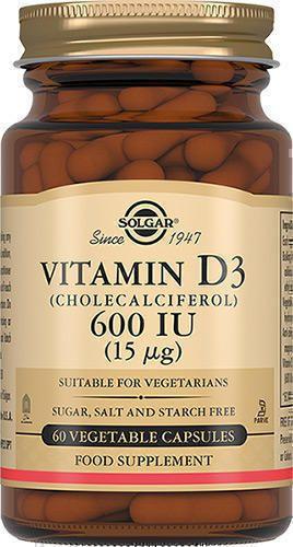 Solgar Витамин D3 600 МЕ, 600 МЕ, капсулы, 60шт.