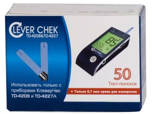 Тест-полоски Clever Chek TD-4227A, 50шт.