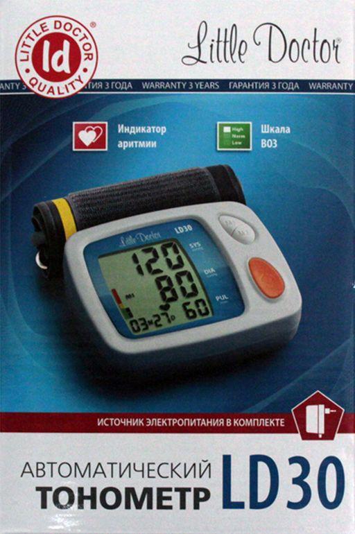 Тонометр автоматический Little Doctor LD30, с адаптером и стандартной манжетой (22-32 см), 1шт.
