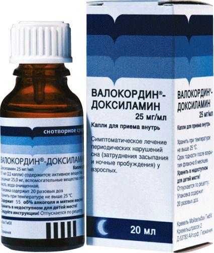 Валокордин-Доксиламин, 25 мг/мл, капли для приема внутрь, 20 мл, 1шт.