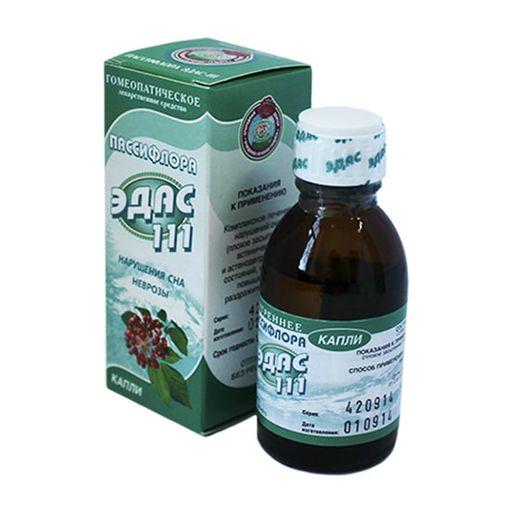 Эдас-111 Пассифлора, капли для приема внутрь, 25 мл, 1шт.