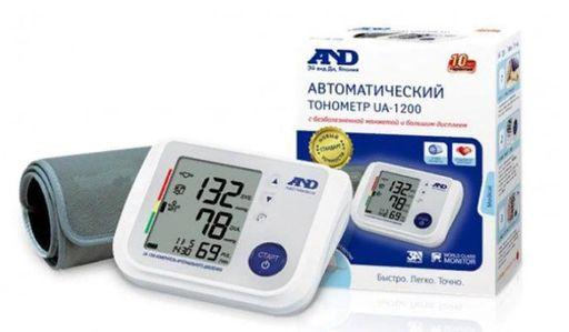 Тонометр автоматический AND UA-1200, с адаптером и стандартной манжетой (22-32 см), 1шт.