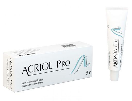 Акриол Про, 2.5%+2.5%, крем для местного и наружного применения, 5 г, 1шт.