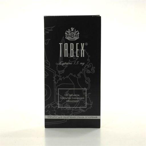 Табекс, 1.5 мг, таблетки, покрытые пленочной оболочкой, 100шт.