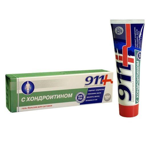 911 гель-бальзам с хондроитином, гель-бальзам, 100 мл, 1шт.