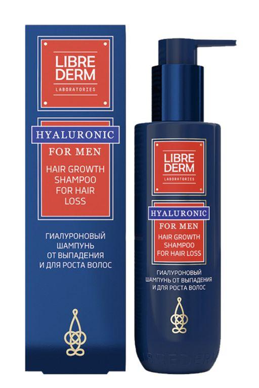 Librederm For men гиалуроновый шампунь от выпадения волос, шампунь, 200 мл, 1шт.