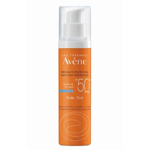 Avene солнцезащитный флюид SPF50+ без отдушек, 50 мл, 1шт.
