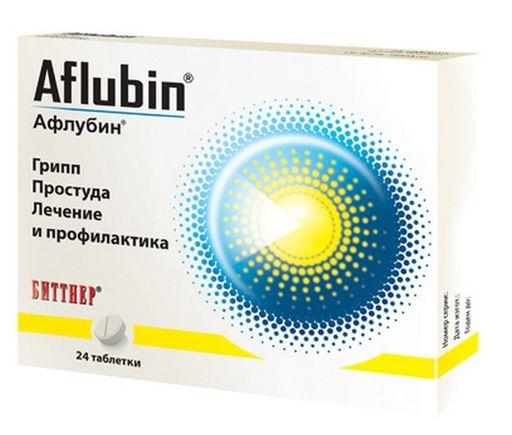 Афлубин, таблетки подъязычные гомеопатические, 24шт.