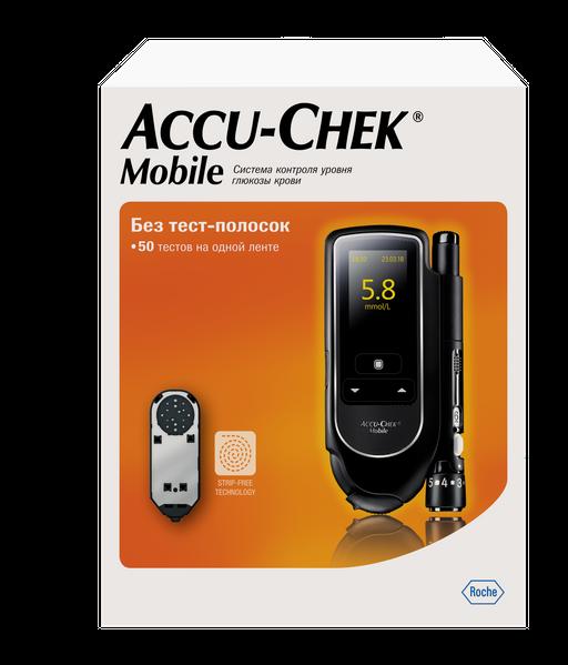 Accu-Chek Mobile Глюкометр, 1шт.
