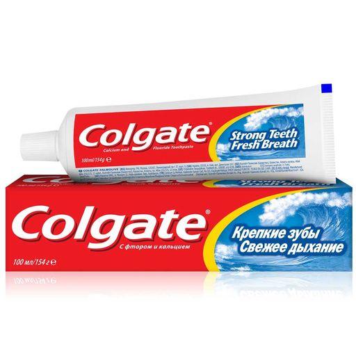 Colgate Паста зубная Крепкие зубы Свежее дыхание, паста зубная, 100 мл, 1шт.