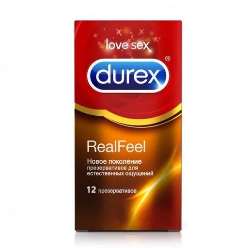 Презервативы Durex Real Feel, презерватив, анатомической формы, 12шт.