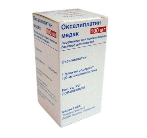 Оксалиплатин медак, 100 мг, лиофилизат для приготовления раствора для инфузий, 1шт.