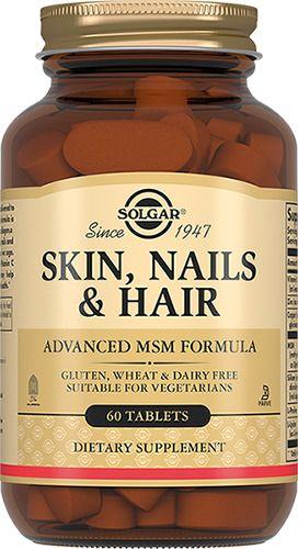Solgar Таблетки для кожи, ногтей и волос, таблетки, 60шт.