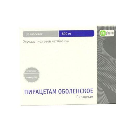 Пирацетам Оболенское, 800 мг, таблетки, покрытые оболочкой, 30шт.