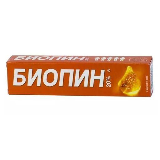 Биопин, 20%, мазь для наружного применения, 40 г, 1шт.