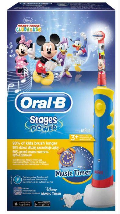 Электрическая зубная щетка для детей Oral-B Stages Power Mickey, 1шт.