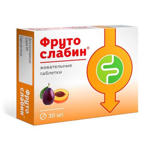 Фрутослабин, таблетки жевательные, 30шт.
