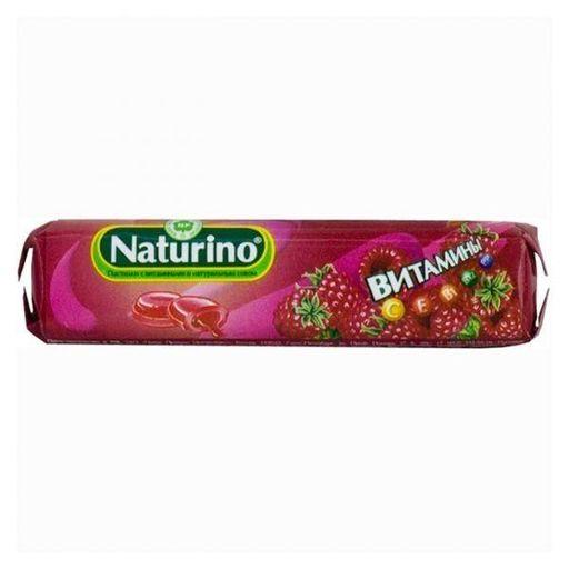 Натурино пастилки с витаминами и натуральным соком, 4.2 г, пастилки, со вкусом малины, 8шт.
