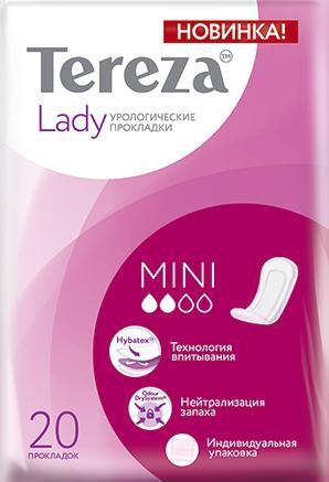 TerezaLady Mini прокладки урологические, 2 капли, 20шт.