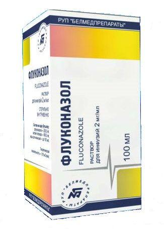 Флуконазол, 2 мг/мл, раствор для инфузий, 100 мл, 1шт.