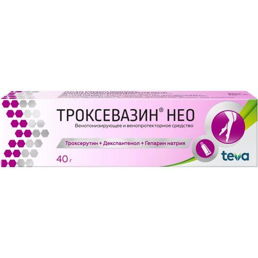 Троксевазин Нео, гель для наружного применения, 40 г, 1шт.