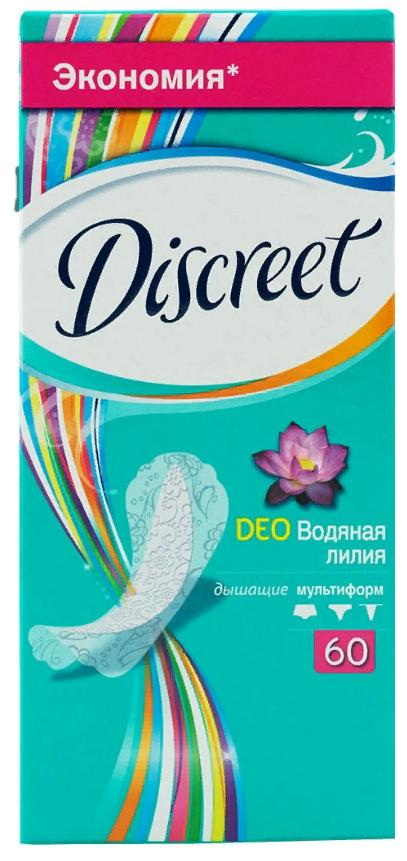 Discreet Deo Water Lily Multiform прокладки ежедневные, прокладки гигиенические, 60шт.