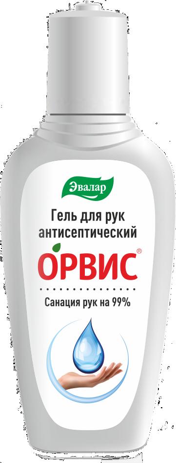 Орвис Гель для рук антисептический, гель для наружного применения, 100 мл, 1шт.