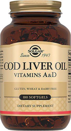 Solgar Жир из печени норвежской трески, 650 мг, капсулы, 100шт.