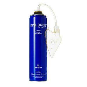 Кислородный баллончик медицинский индивидуальный K12L-М с маской, кислород 80%, азот 20%, 12 л, 1шт.