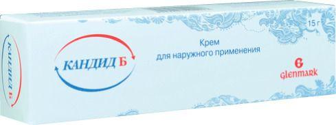 Кандид Б, 1%, крем для наружного применения, 15 г, 1шт.