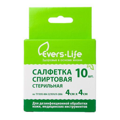 Салфетка антисептическая спиртовая, 4смх4см, 10шт.