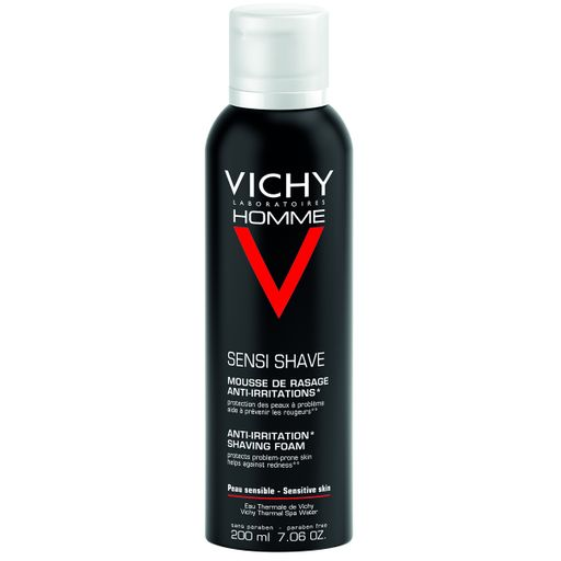 Vichy Homme пена для бритья против раздражения кожи, пена для бритья, мужские, 200 мл, 1шт.