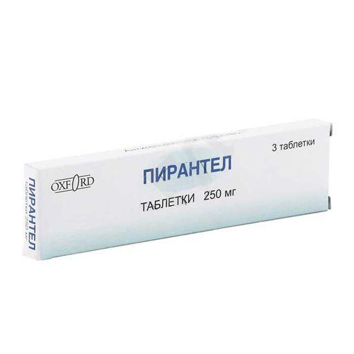 Пирантел, 250 мг, таблетки, 3шт.