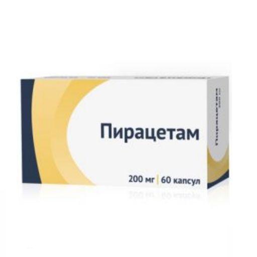 Пирацетам, 200 мг, капсулы, 60шт.