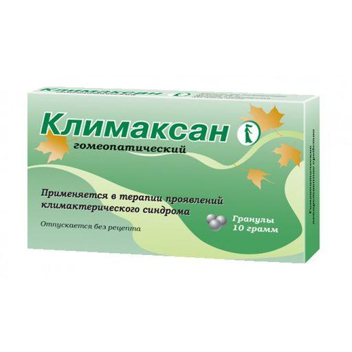 Климаксан гомеопатический, гранулы гомеопатические, 10 г, 1шт.