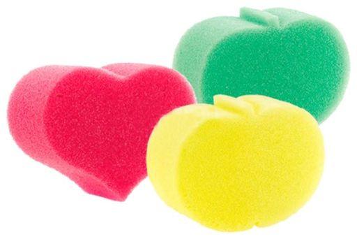 Курносики мочалка без массажного слоя, арт.40506, цветные, в ассортименте, 1шт.