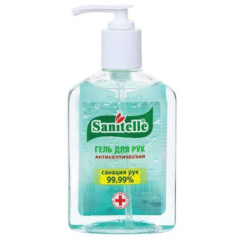 Sanitelle гель для рук антисептический с алоэ и витамином Е, гель для наружного применения, 250 мл, 1шт.
