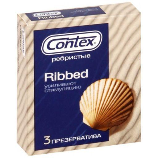 Презервативы Contex Ribbed, презерватив, с ребрами и пупырышками, 3шт.