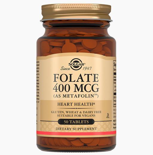 Solgar Фолат 400мкг Метафолин, 400 мкг, таблетки, 50шт.