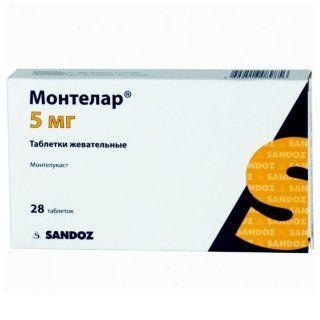 Монтелар, 5 мг, таблетки жевательные, 28шт.