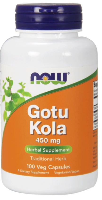 NOW Gotu Kola Готу Кола, 450 мг, капсулы, 100шт.