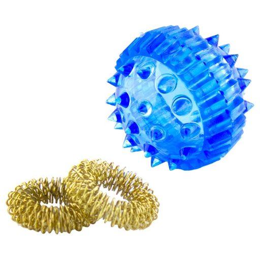 Массажный шарик с кольцами, 1шт.