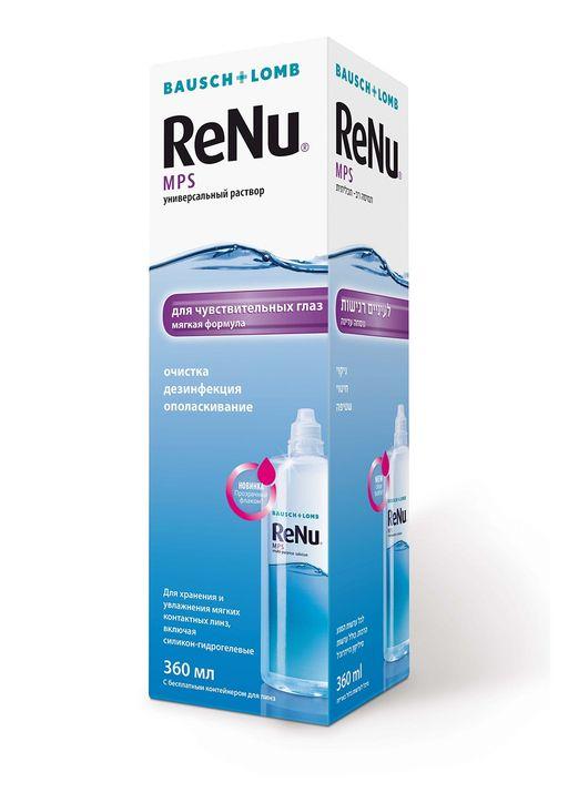 ReNu MPS для чувствительных глаз, раствор для обработки и хранения мягких контактных линз, 360 мл, 1шт.