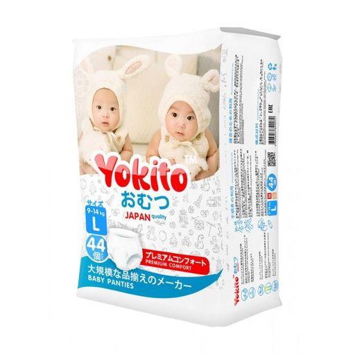 Подгузники-трусики детские YOKITO, 9-14 кг, L, 1600 г, 44шт.
