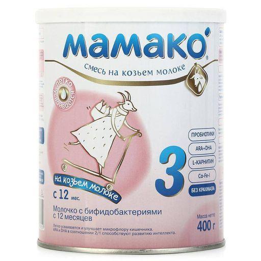 Мамако 3 Premium молочная смесь на основе козьего молока, смесь молочная сухая, 400 г, 1шт.
