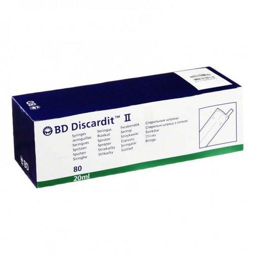 Шприц двухкомпонентный инъекционный одноразовый  BD Discardit II, 20 мл, с иглой 0.80х40 мм (21G), 80шт.