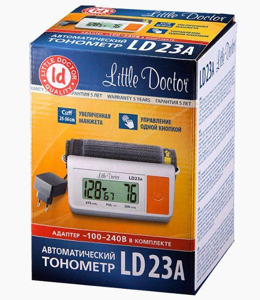 Тонометр автоматический Little Doctor LD23A, с адаптером и стандартной манжетой (22-32 см), 1шт.
