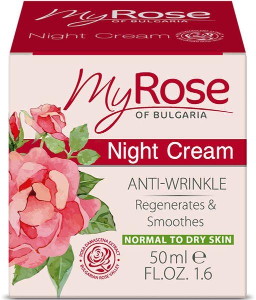 My Rose Крем ночной для лица от морщин, крем для лица, 50 мл, 1шт.