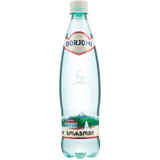 Вода минеральная Боржоми, лечебно-столовая газированная, в пластиковой бутылке, 0.75 л, 1шт.