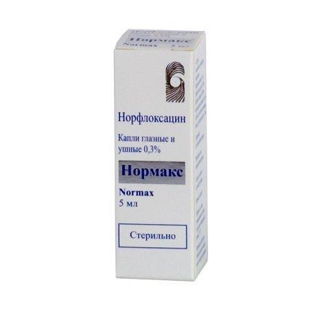 Нормакс, 0.3%, капли глазные и ушные, 5 мл, 1шт.